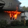 Small incendie maison pavillon
