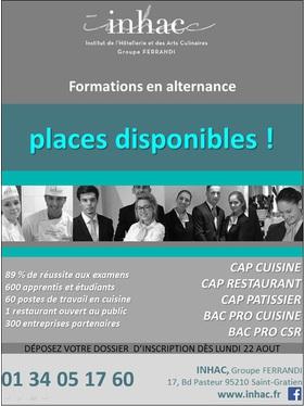 Big inhac places disponibles en alternance hotellerie restauration