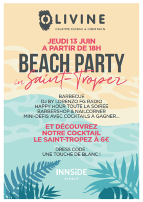 Big flyer beach party