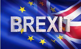 Big drapeaux europe et royaume uni brexit