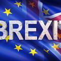 Small drapeaux europe et royaume uni brexit