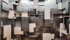 Big passage  detail   2 00 m x 2 40 m x 1 20 m    bois peuplier  metal   dispositif lumineux   courtesy art collector  cornu